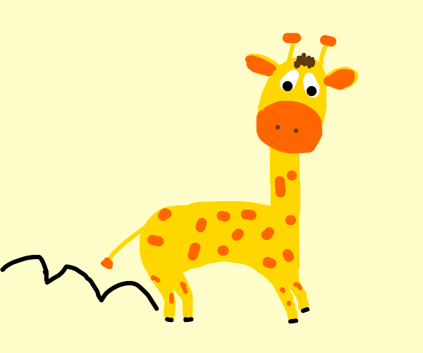 Hopping giraffe