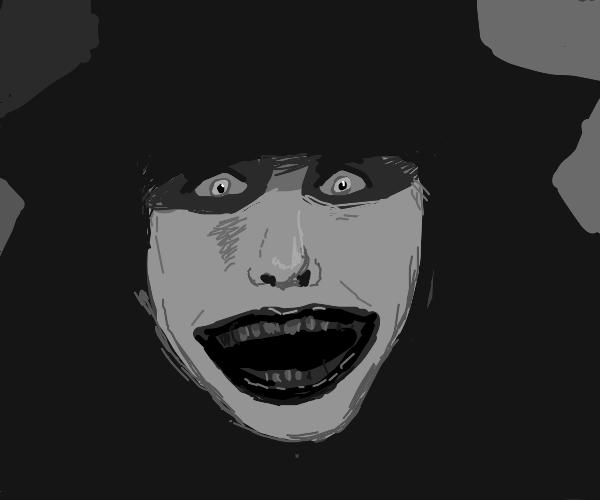 Black & Gray German Expressionist Joker