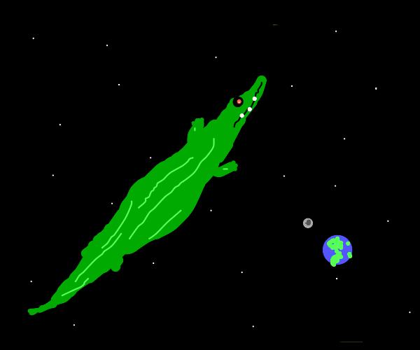 alligator in space