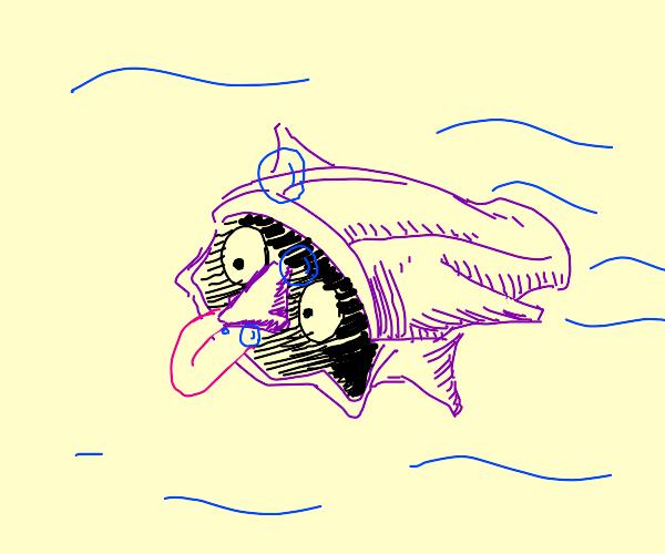Shellder with a nose.
