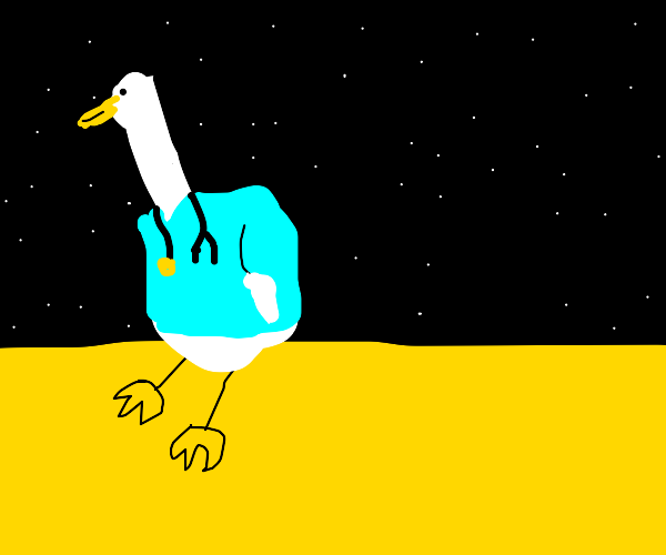 doctor duck standing on a star
