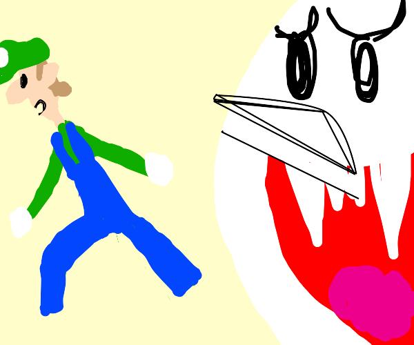 Luigi afraid of ghosts