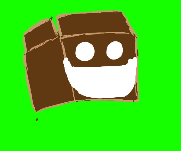 Cardboard box is super happy