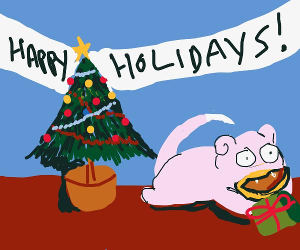 Pig's Holiday Card