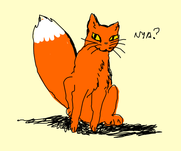 Cat with fox tail