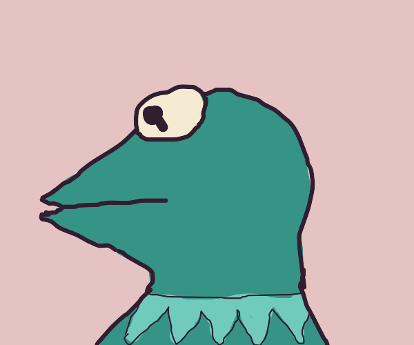 kermit the frog: side view