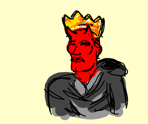 The devil is handsome and has a crown