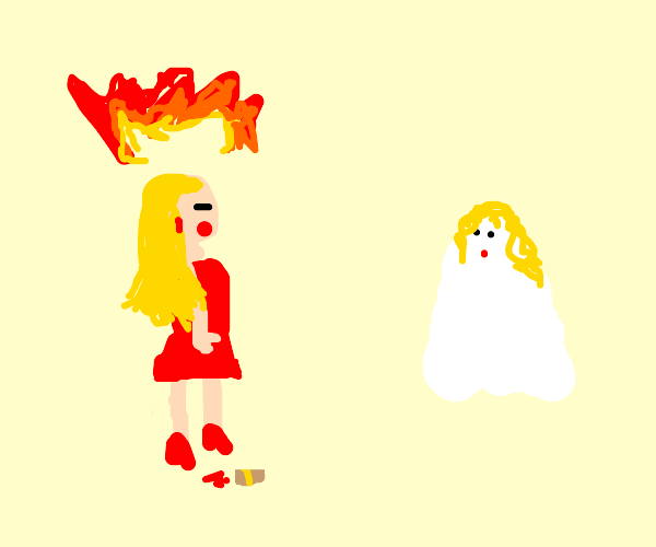 Barbie is mad at her ghost sister