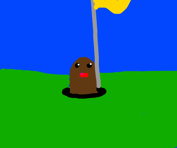Diglett in the Golf Course Hole