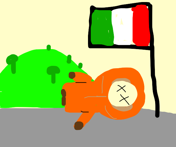 Kenny died at the border of italy