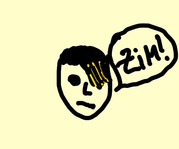 "unimpressed emo says ""ZIM!!"""