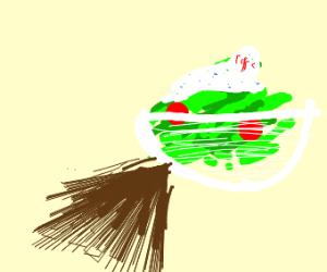 A salad sharted