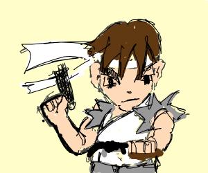 Ryu Street Fighter Has A Gun Drawception