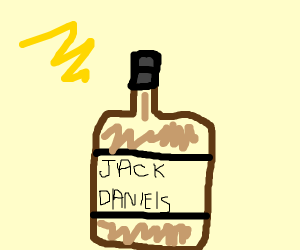 "Bottle with the name ""Jack Dany"""