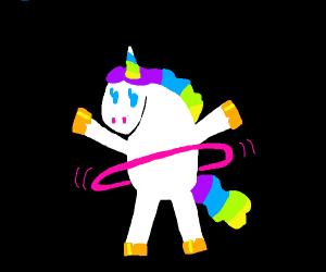unicorn with hula hoop