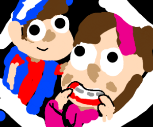 Dipper and Mabel pines