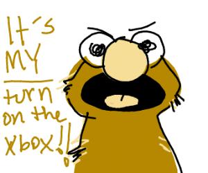 It's Elmo's turn on the XBOX