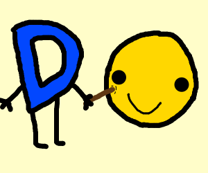 drawception d poking happyface with a stick