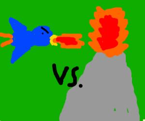 fire-breathing bird vs volcano