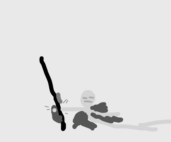 Dying man raises gun to shoot