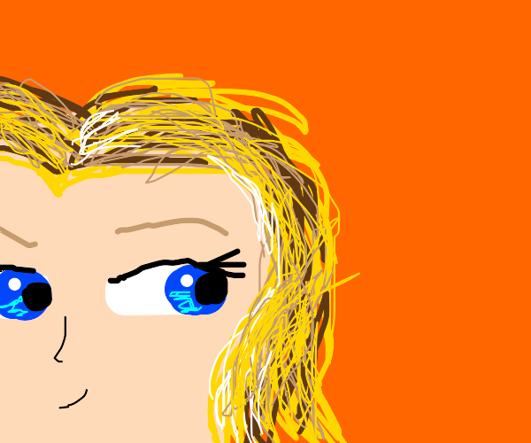 blonde girl with blue eyes