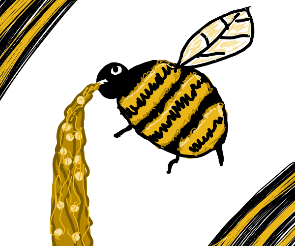 Bee vomiting
