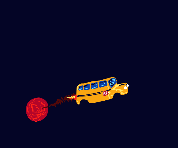 Prison bus escaping from Mars