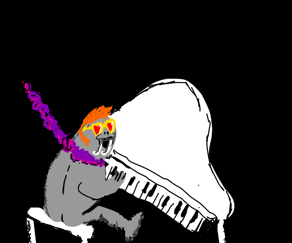 Walrus dresses like Elton John