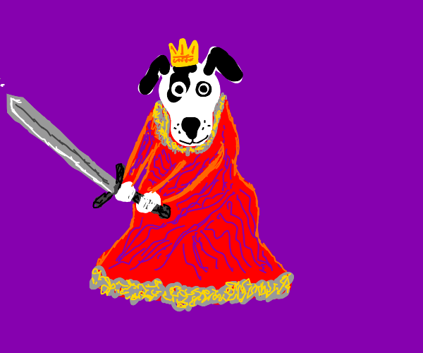 dog with sword
