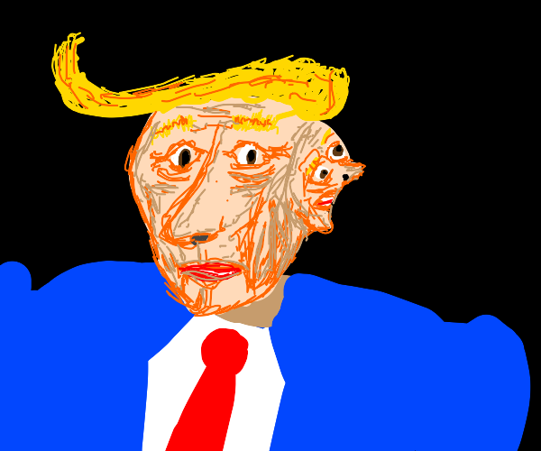 Trump grows 2nd face out the side of his head