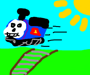 ThomaSans goes flying off the rails
