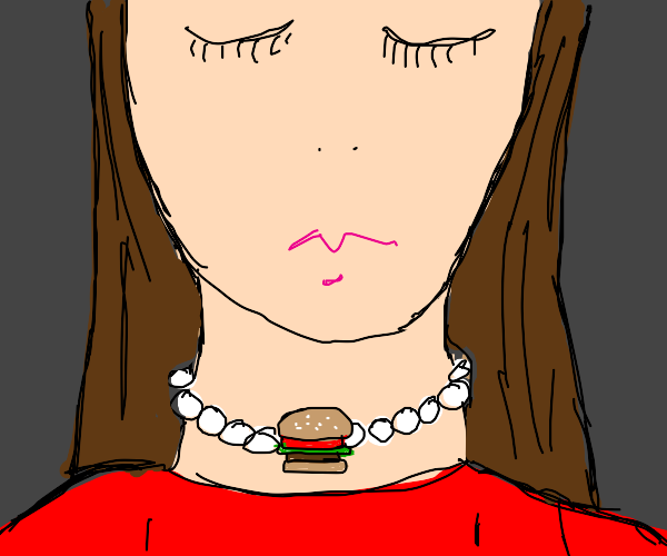Hamburger on a Pearl Necklace
