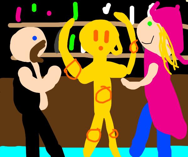 robot dancing in a gaybar