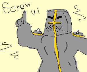 Knight says screw you