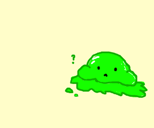 Confused green blob