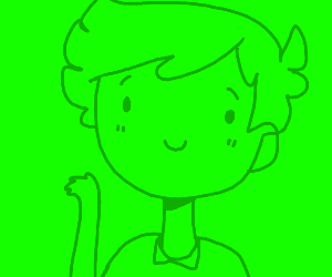 A picture of a green guy