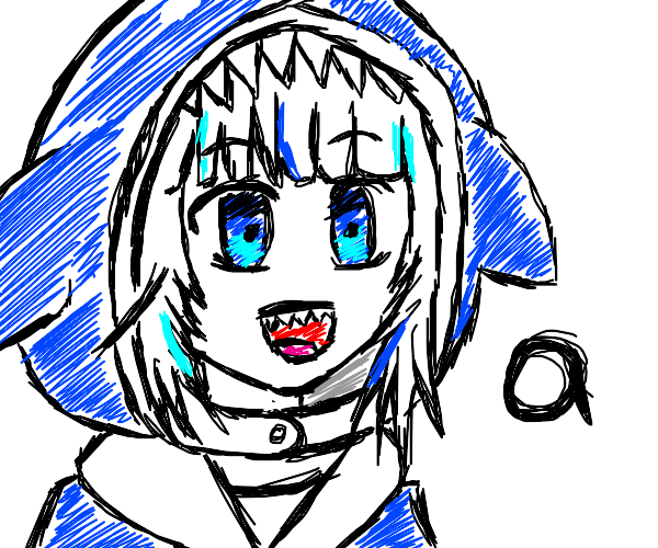 Anime shark girl saying a