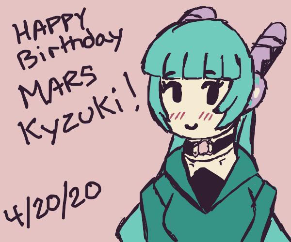 hatsune miku wishes someone a happy birthday