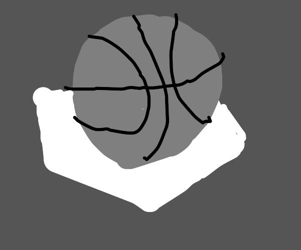 Basketball sitting on home plate