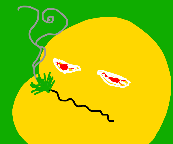 emoji on weed or high