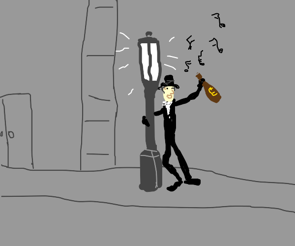 Guy singing while feeling drunk...