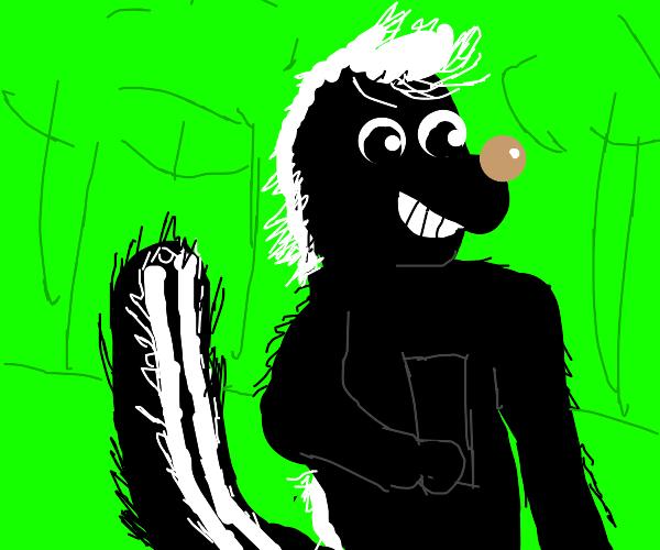 skunk taking selfie