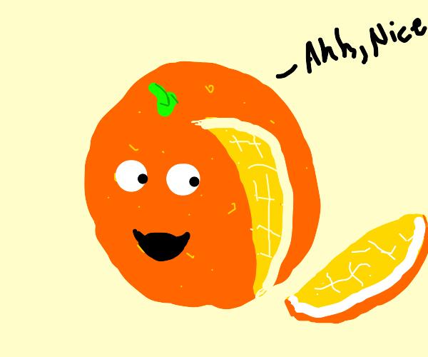 annoying orange enjoys being cut