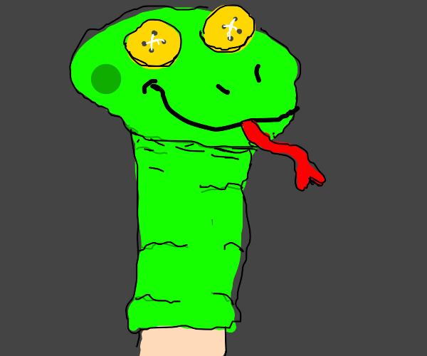 Fancy Sock snake puppet