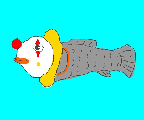 "A literal ""clownfish"" (yes, a clown)"