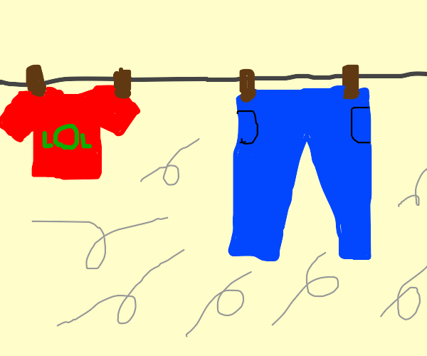 Clothing on Clothesline Dried by the wind