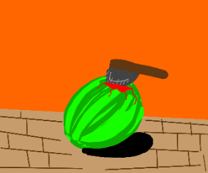 axed watermelon