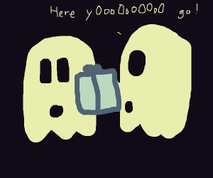 Ghost gifting another ghost