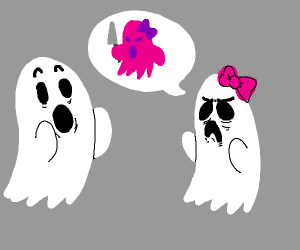 a ghost telling her friend about her bad ex