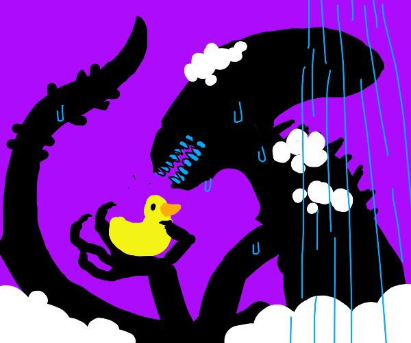Xenomorph with a rubber ducky